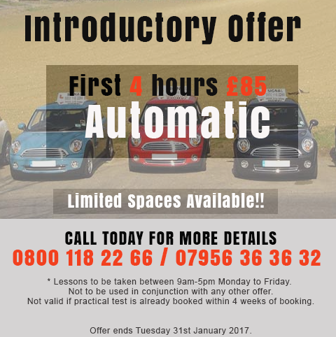 Croydon Driving Lessons Introductory Offer January 2017