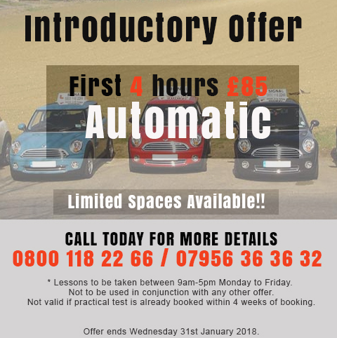 Driving Lessons Cryodon Offer for January 2018