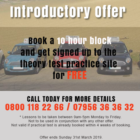 Automatic Driving Lessons Offer March 2019