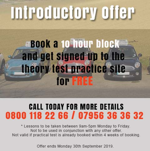 Automatic Driving Lessons Offer September 2019