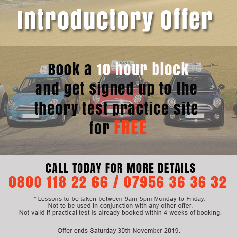 Automatic Driving Lessons Offer November 2019